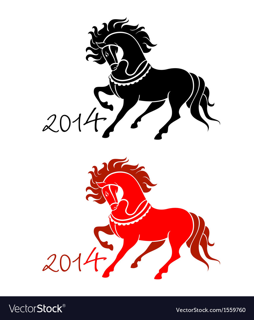 2014 horse lunar symbol vector | Price: 1 Credit (USD $1)