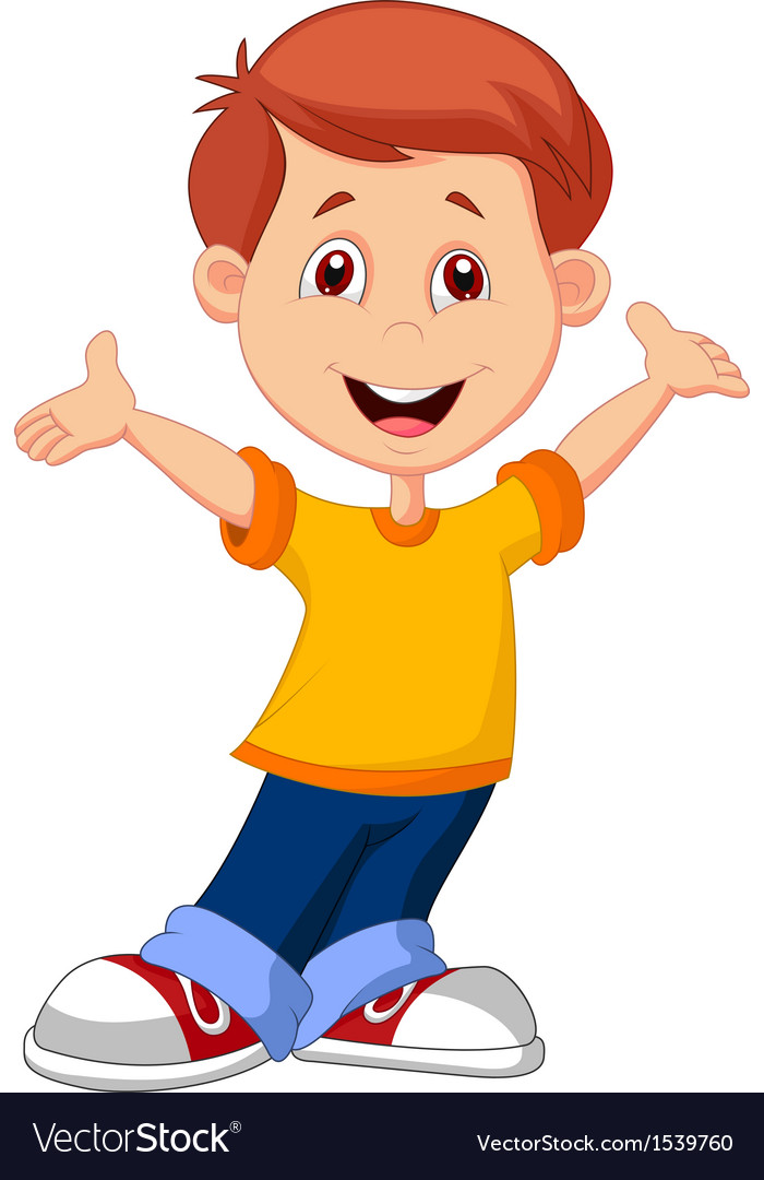 Cute boy cartoon vector | Price: 1 Credit (USD $1)
