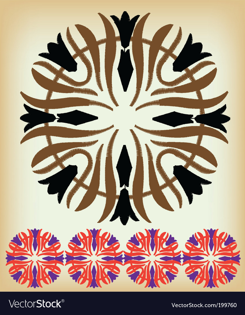 Ethnic border vector | Price: 1 Credit (USD $1)