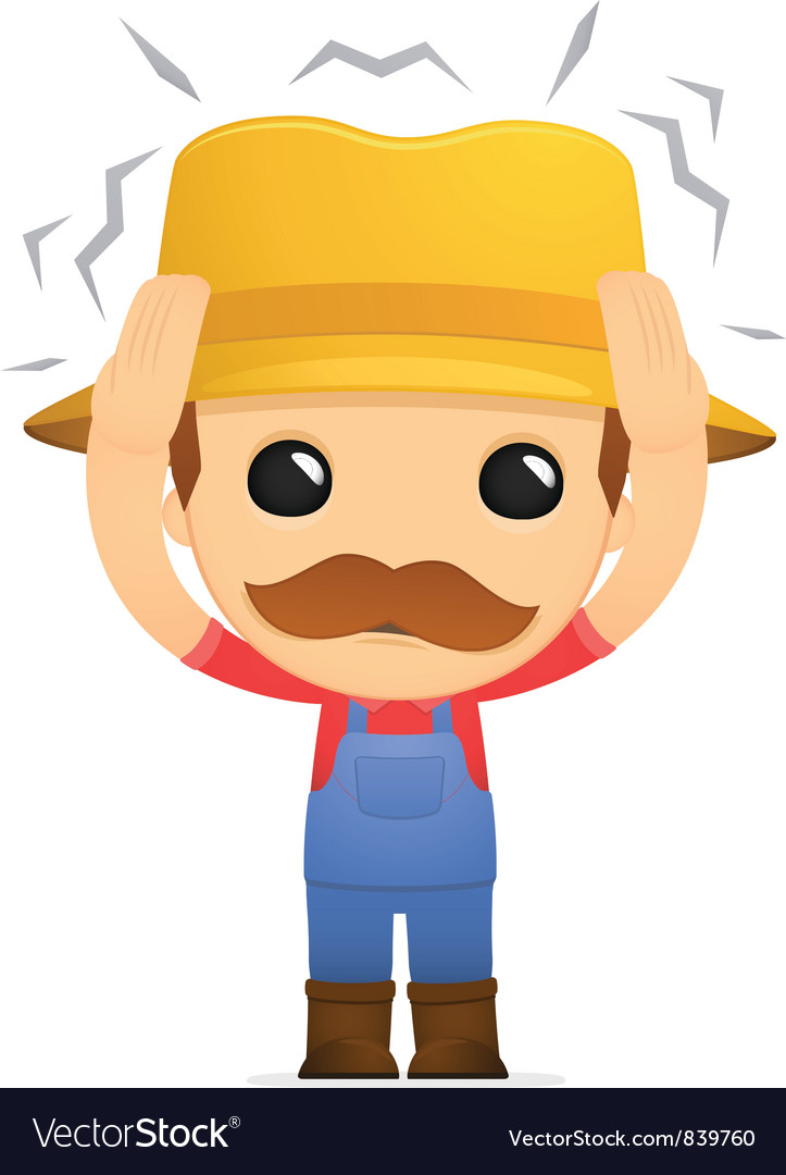 Funny cartoon farmer vector | Price: 1 Credit (USD $1)