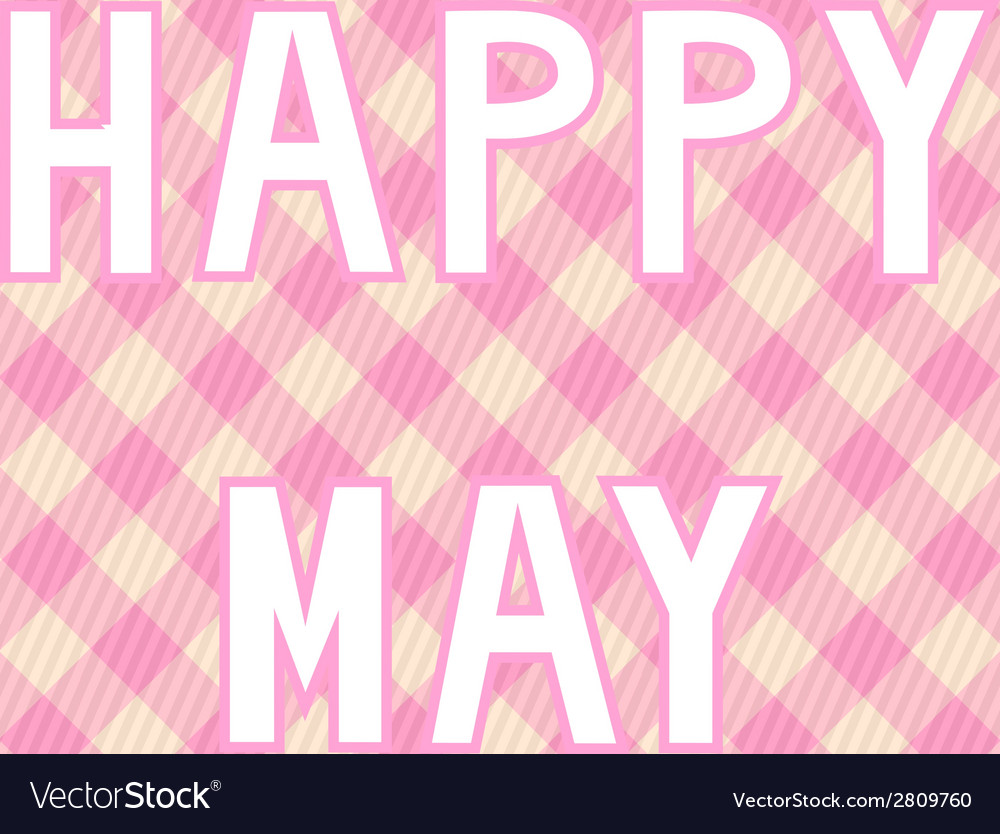 Happy may background4 vector | Price: 1 Credit (USD $1)