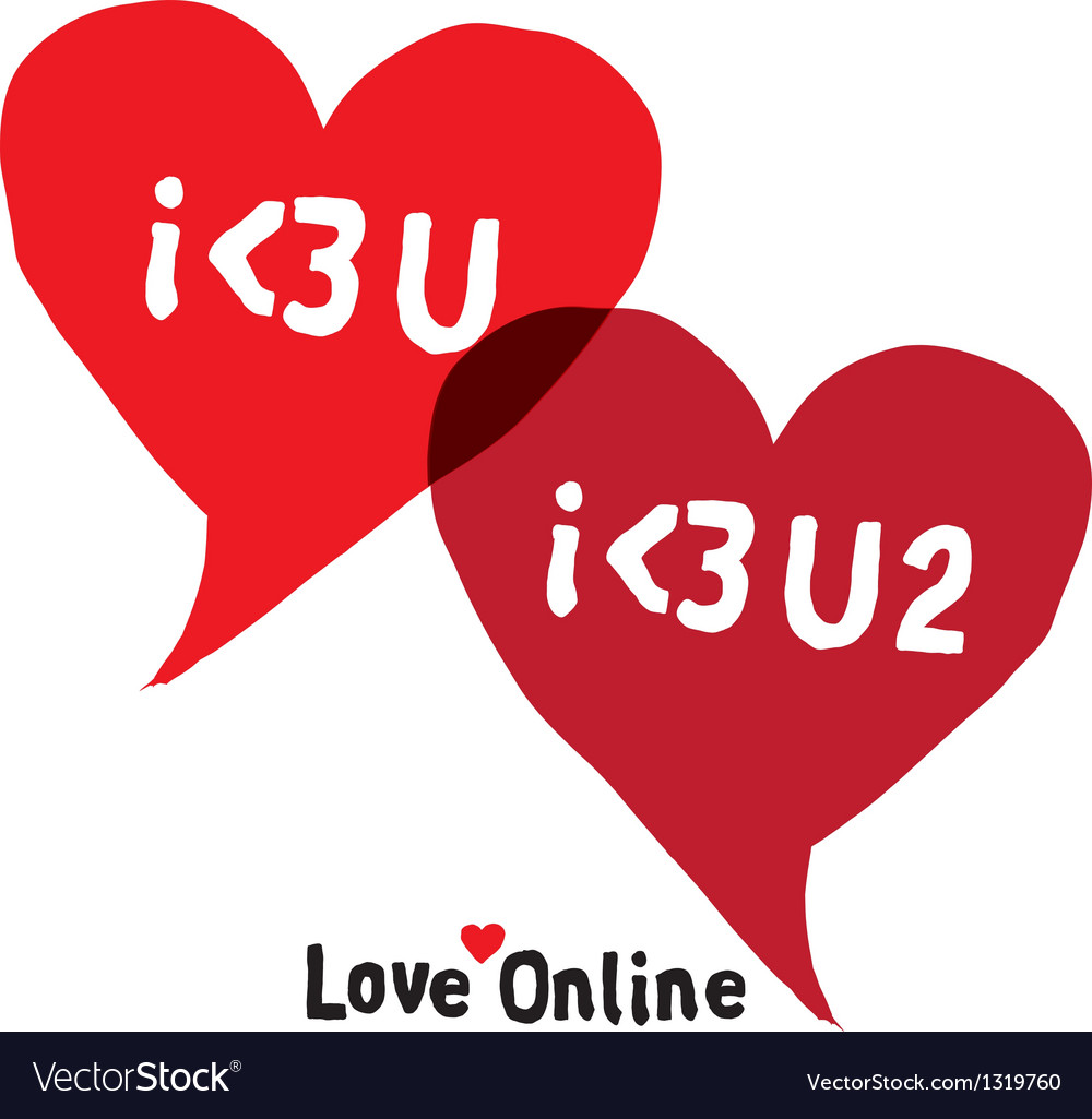 I love you social networking speech bubbles vector | Price: 1 Credit (USD $1)