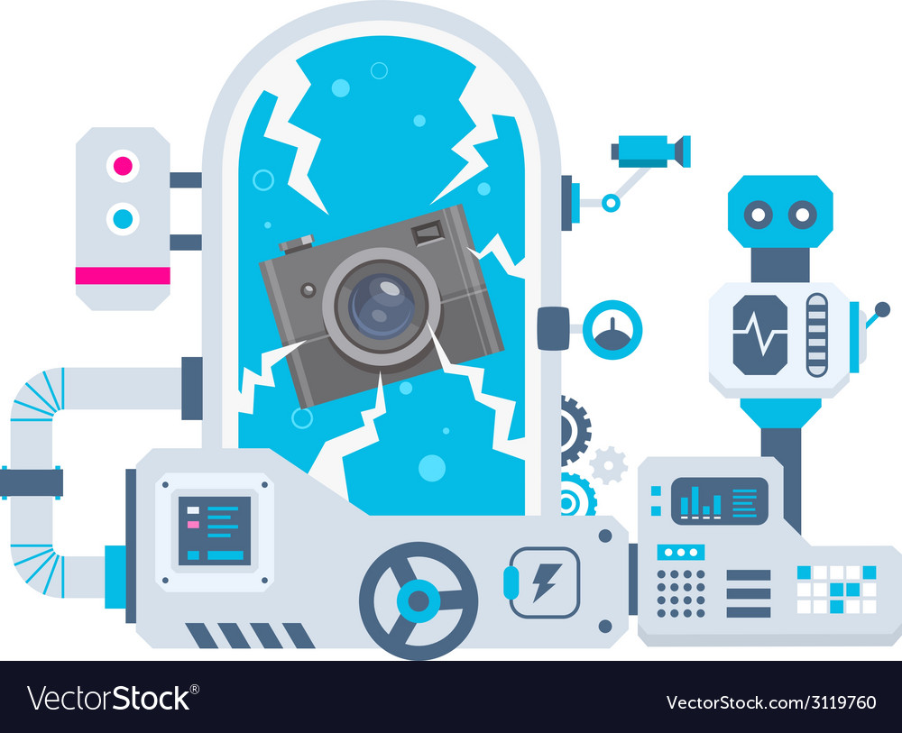 Industrial background of the factory for cam vector | Price: 1 Credit (USD $1)