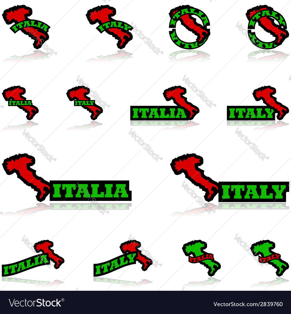 Italy icons vector | Price: 1 Credit (USD $1)