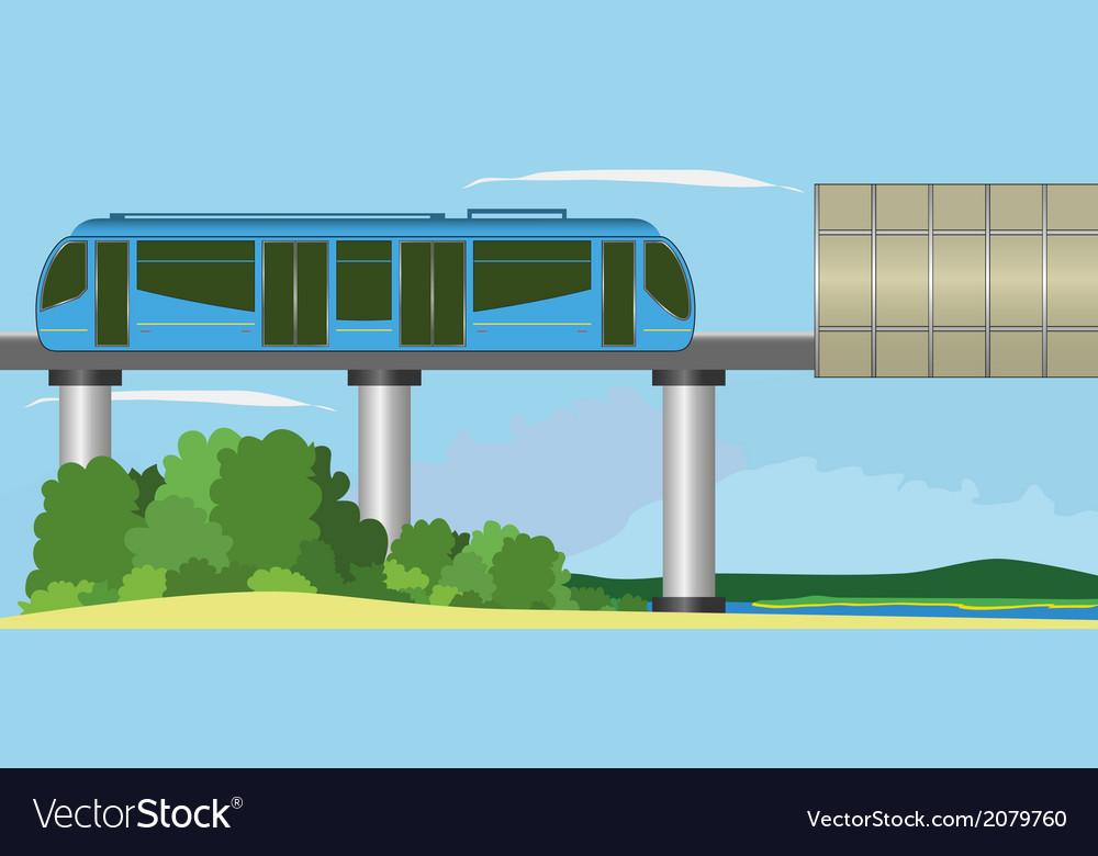 Monorail vector | Price: 1 Credit (USD $1)