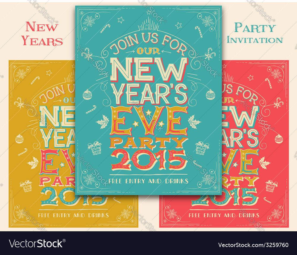New years eve party invitation vector | Price: 3 Credit (USD $3)