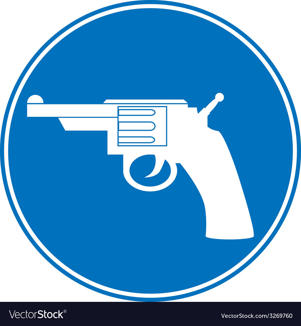 Revolver allowing sign vector | Price: 1 Credit (USD $1)