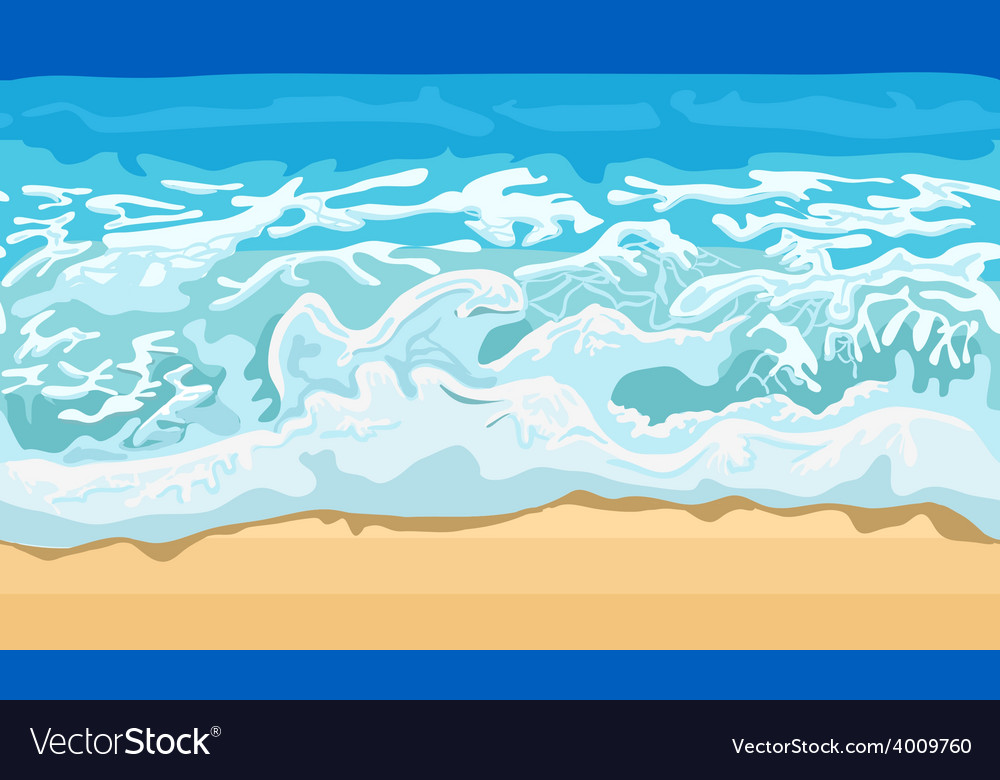 Sea wave and sand beach vector | Price: 1 Credit (USD $1)