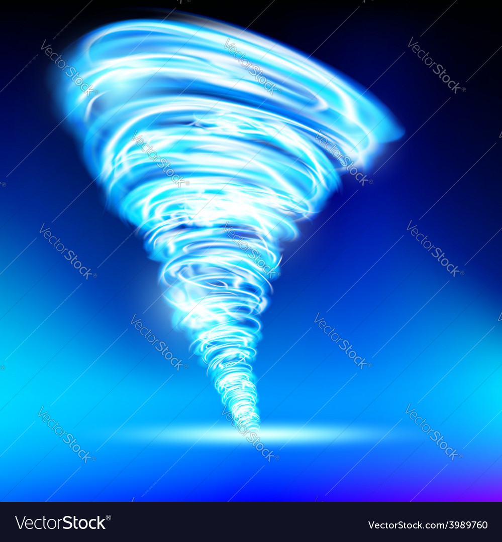 Tornado consisting of blue flame vector | Price: 1 Credit (USD $1)