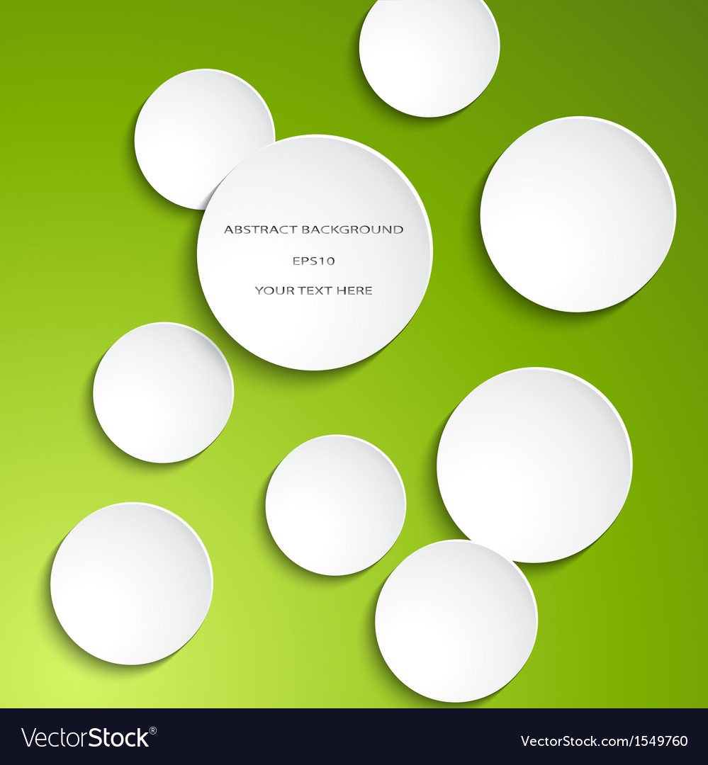 White paper circles vector | Price: 1 Credit (USD $1)