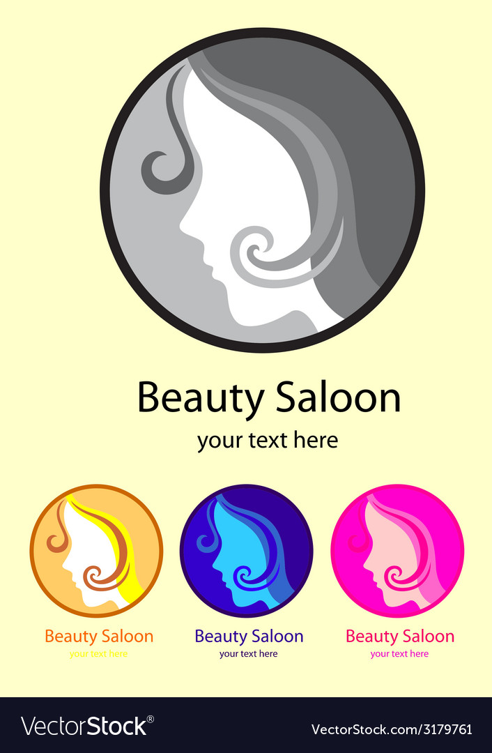 Beauty saloon logo vector | Price: 1 Credit (USD $1)
