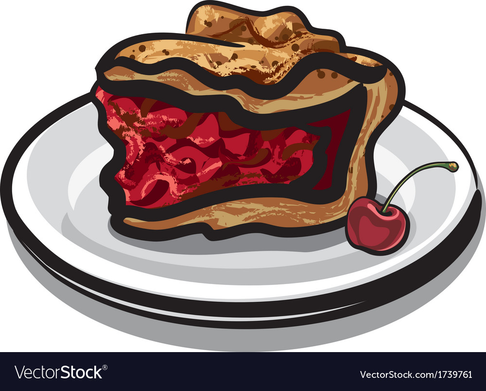 Cherry pie vector | Price: 1 Credit (USD $1)