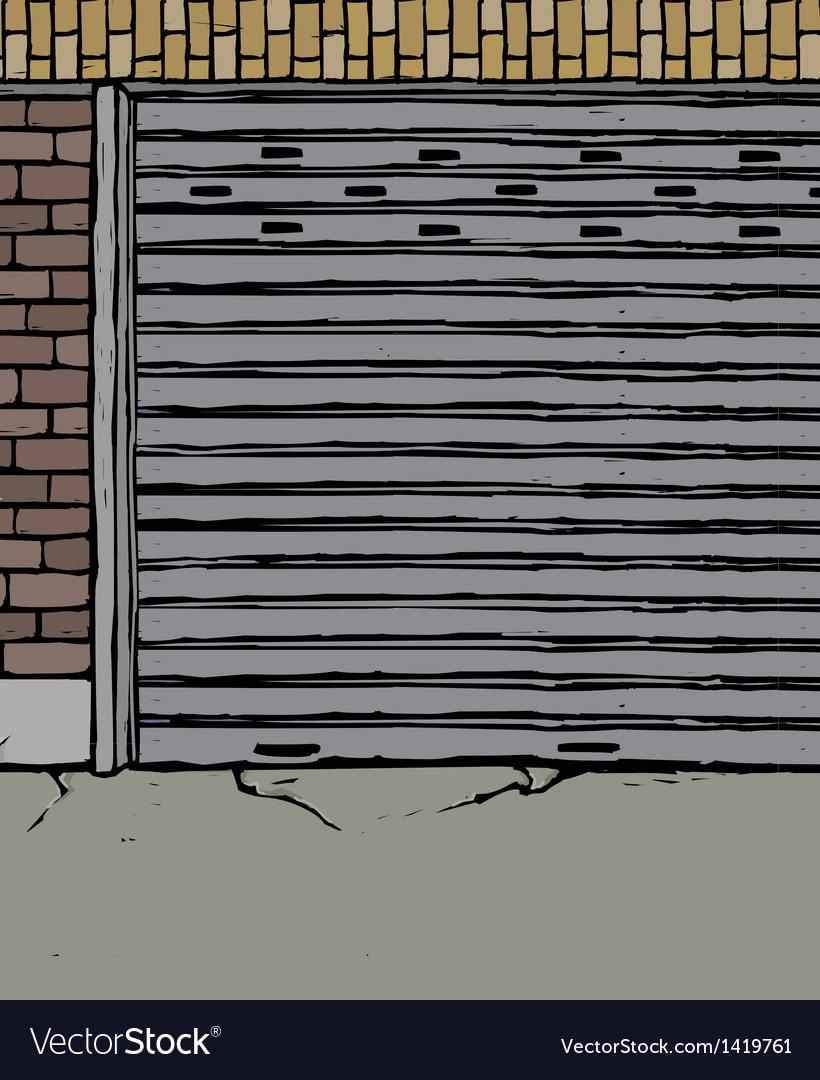 Derelict street scene vector | Price: 1 Credit (USD $1)