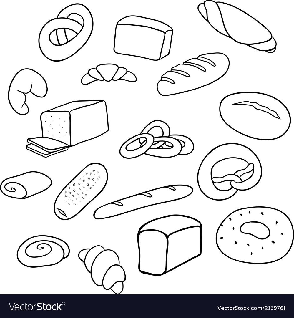 Different varieties of bread vector | Price: 1 Credit (USD $1)