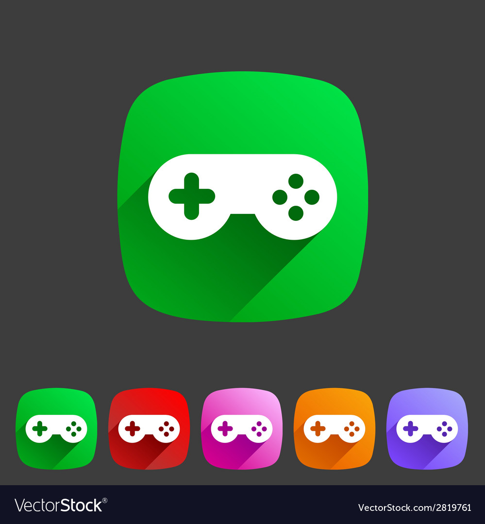 Game joystick flst icon badge vector   Price: 1 Credit (USD $1)