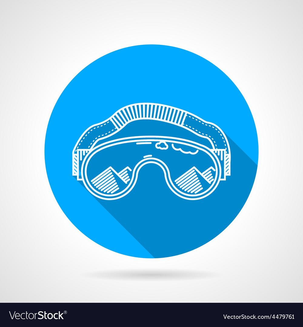 Goggles circle flat icon vector | Price: 1 Credit (USD $1)