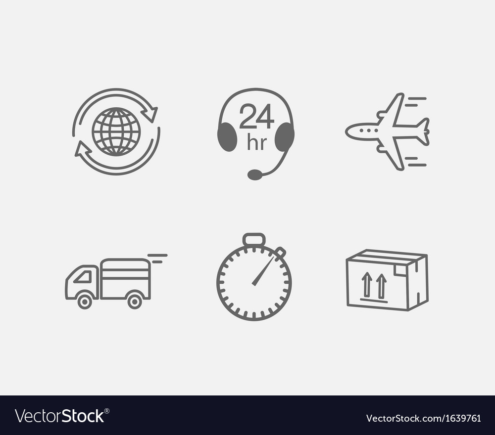 Logistic icon vector | Price: 1 Credit (USD $1)
