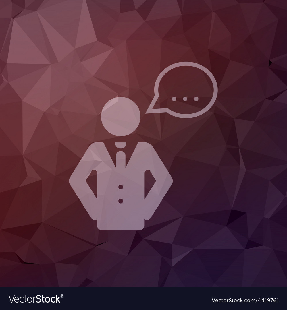 Male speech bubble in flat style icon vector | Price: 1 Credit (USD $1)