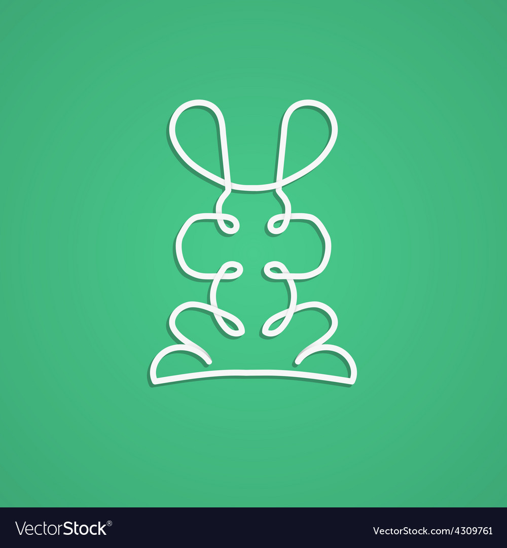 Modern logo in linear design with rabbit vector | Price: 1 Credit (USD $1)