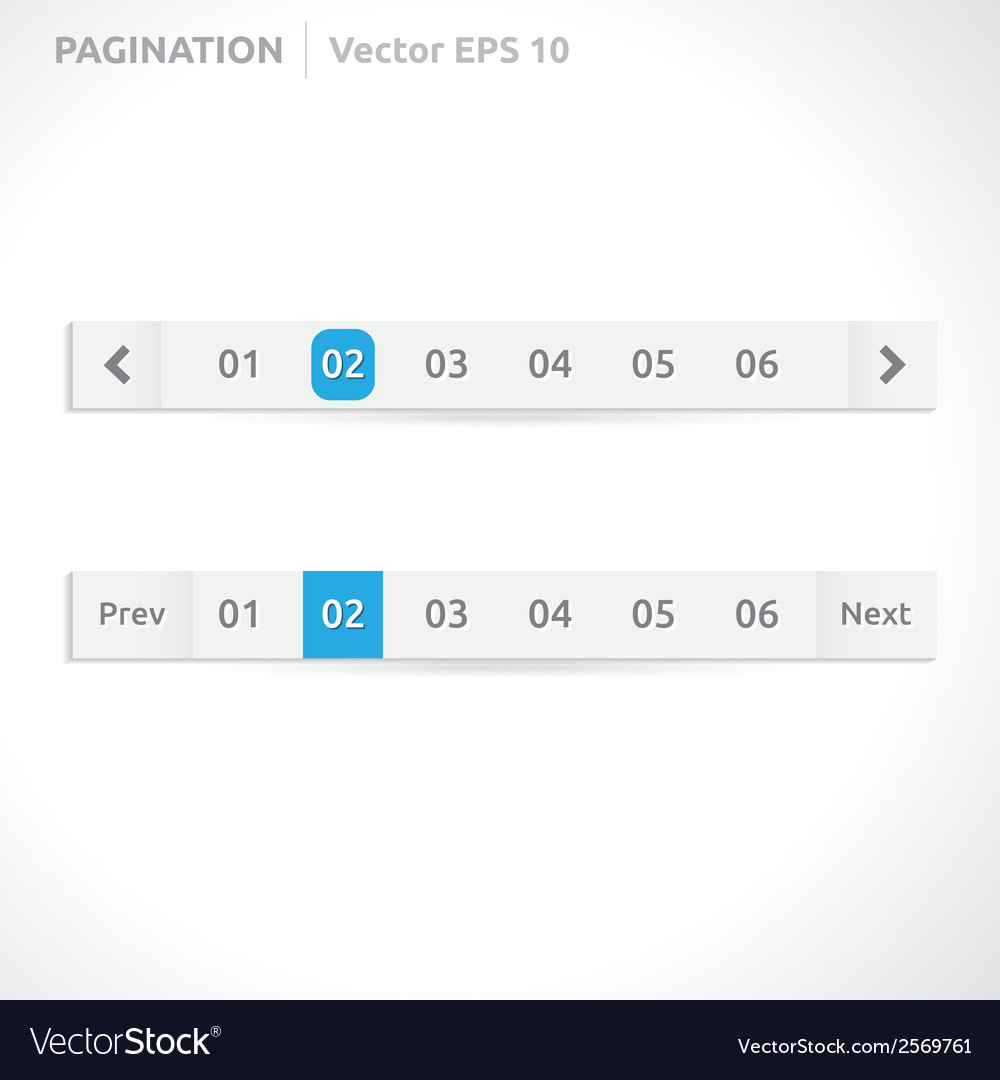 Pagination bars vector | Price: 1 Credit (USD $1)