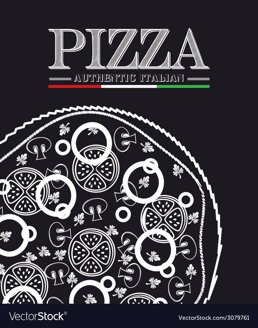 Pizza design vector | Price: 1 Credit (USD $1)