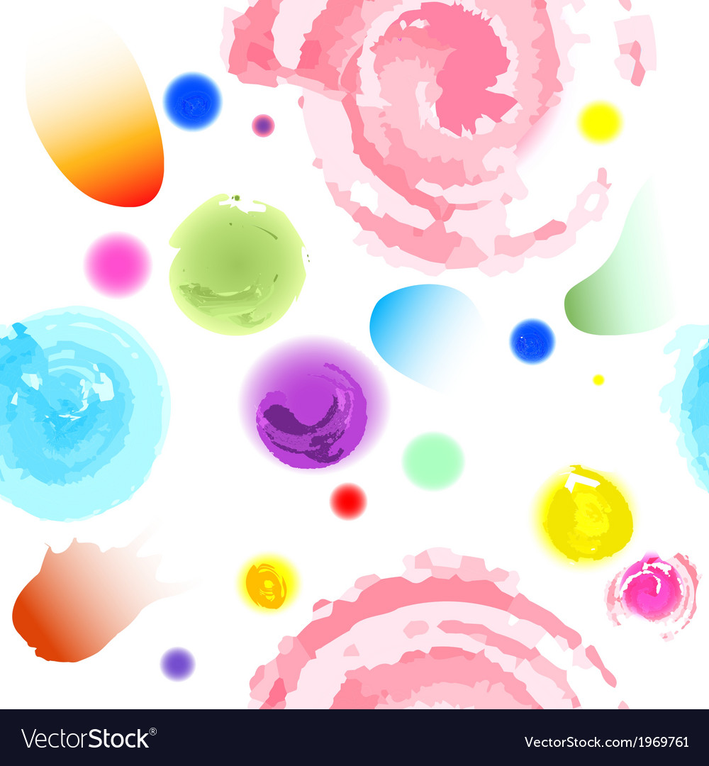 Seamless water colors pattern vector | Price: 1 Credit (USD $1)
