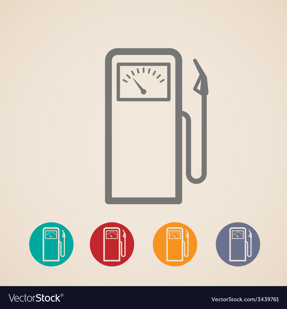 Set of gas pump icons vector | Price: 1 Credit (USD $1)