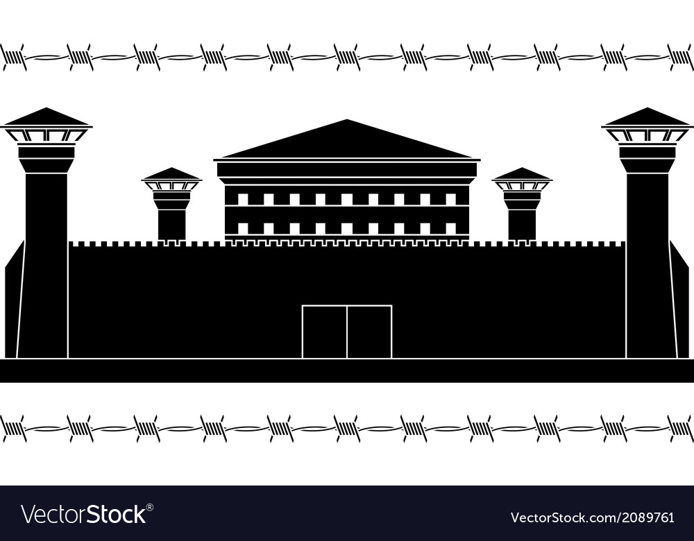 Stencil of prison vector | Price: 1 Credit (USD $1)
