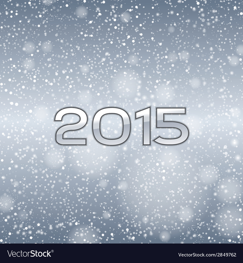 2015 falling snow blue vector | Price: 1 Credit (USD $1)