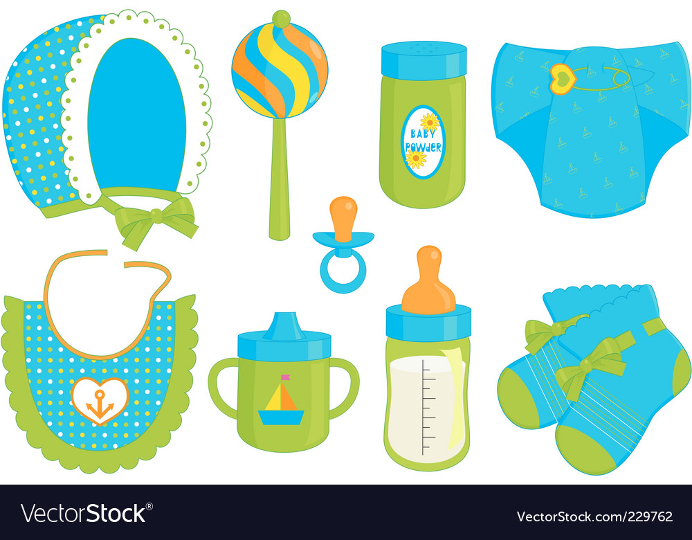 Baby boy accessories vector | Price: 1 Credit (USD $1)