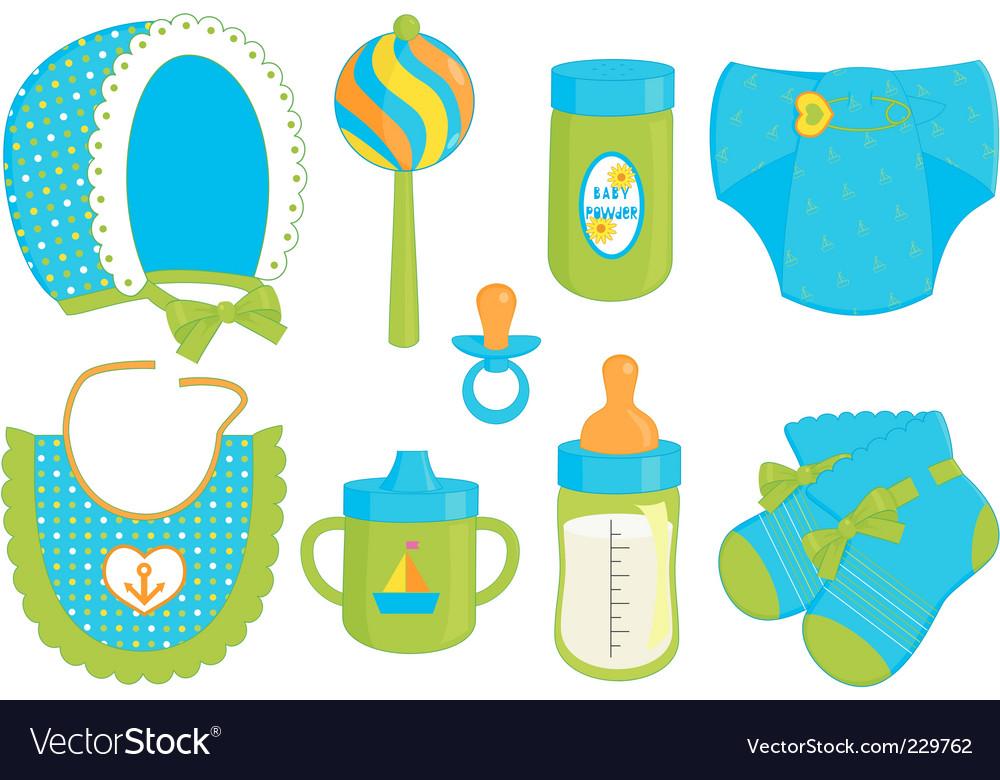 Baby boy accessories vector | Price: 1 Credit (USD $1)
