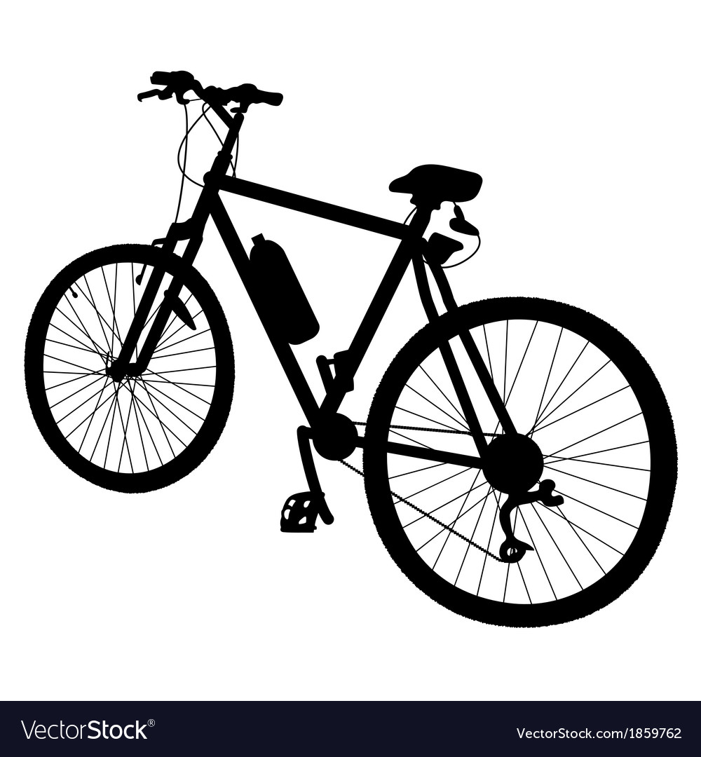 Bicycle silhouette vector | Price: 1 Credit (USD $1)