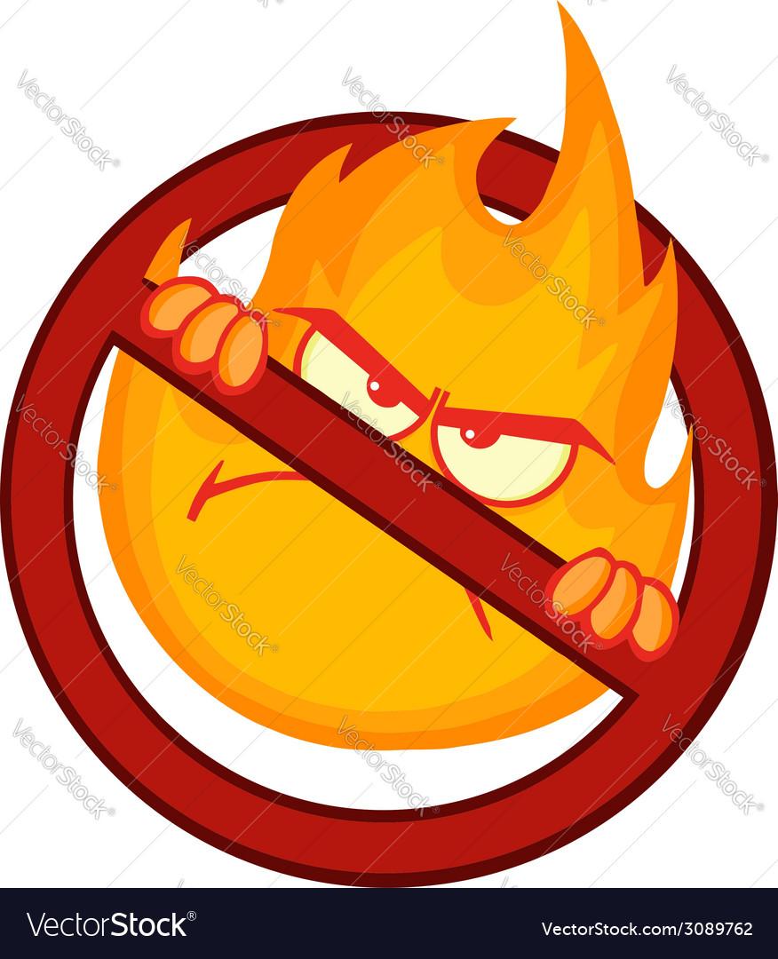 Cartoon flame vector