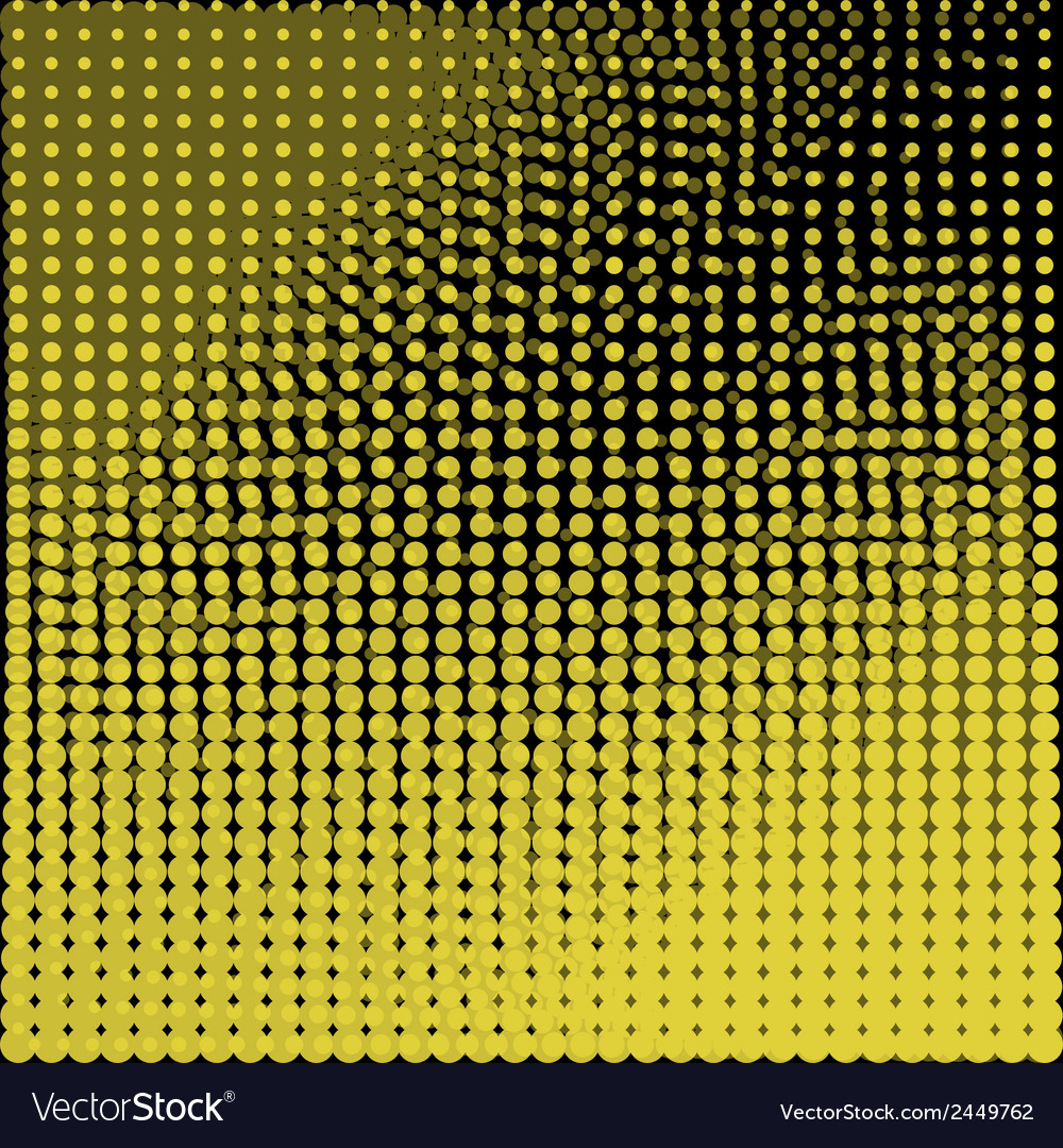 Circles black and yellow background vector | Price: 1 Credit (USD $1)