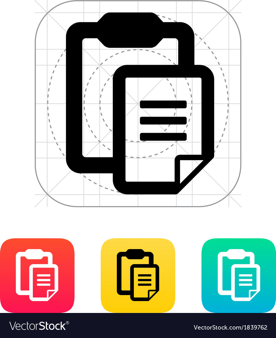 Clipboard with text file icon vector | Price: 1 Credit (USD $1)