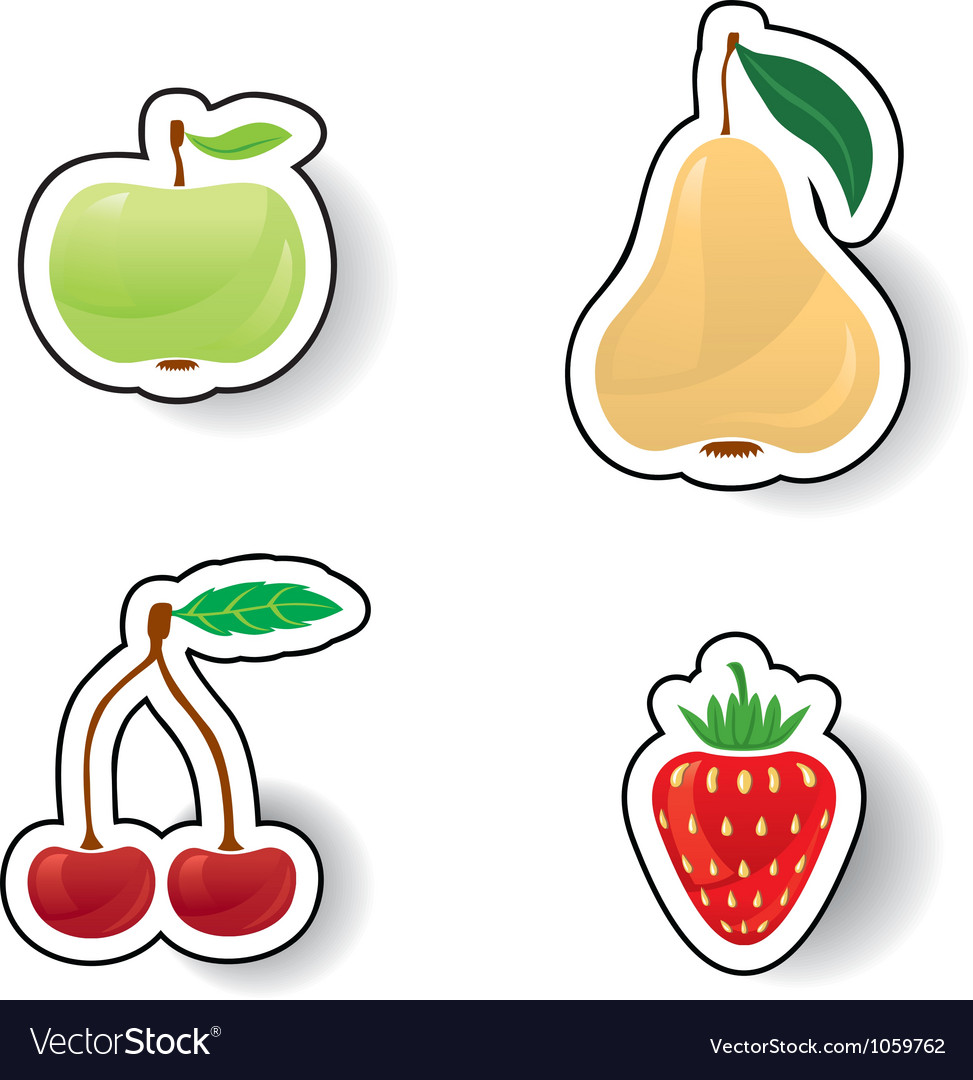 Colorful fruits and berries vector | Price: 1 Credit (USD $1)