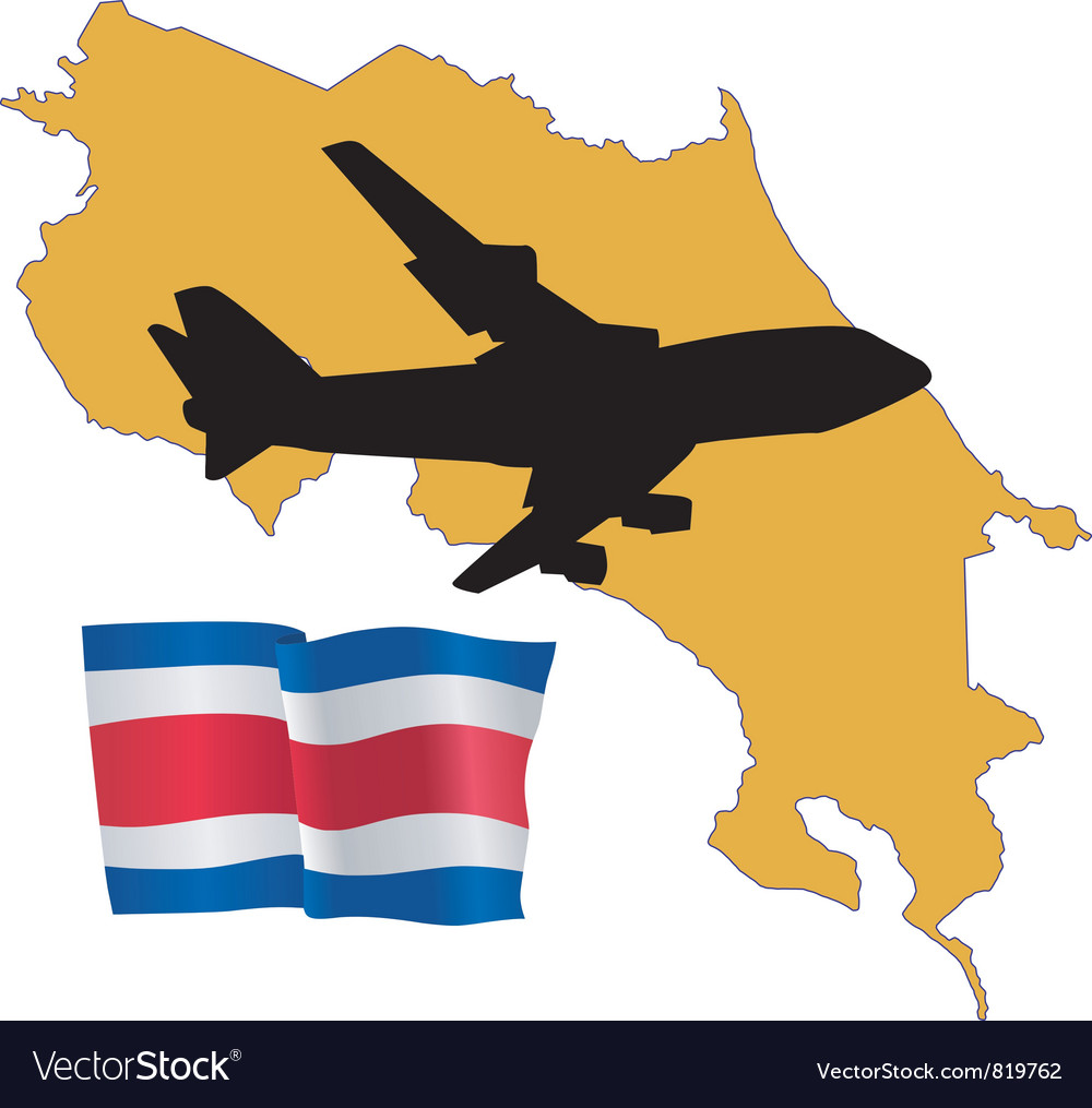 Fly me to the costa rica vector