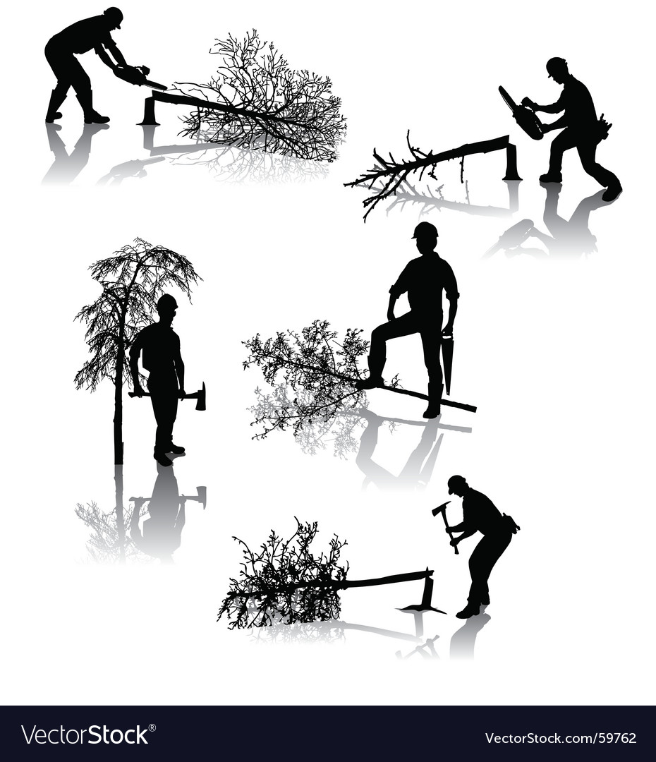 Forestry workers vector | Price: 1 Credit (USD $1)