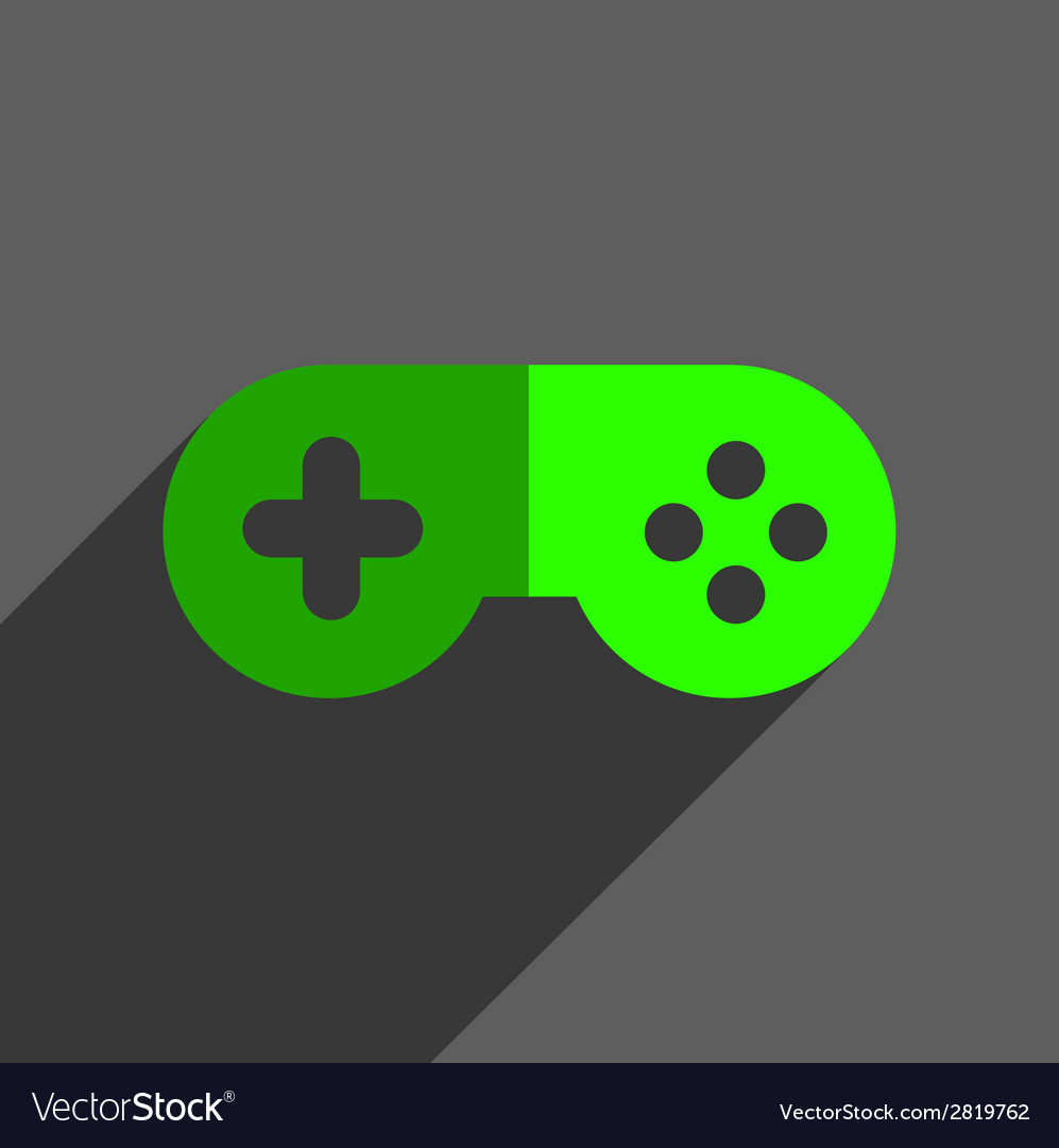 Game joystick flst icon badge vector | Price: 1 Credit (USD $1)