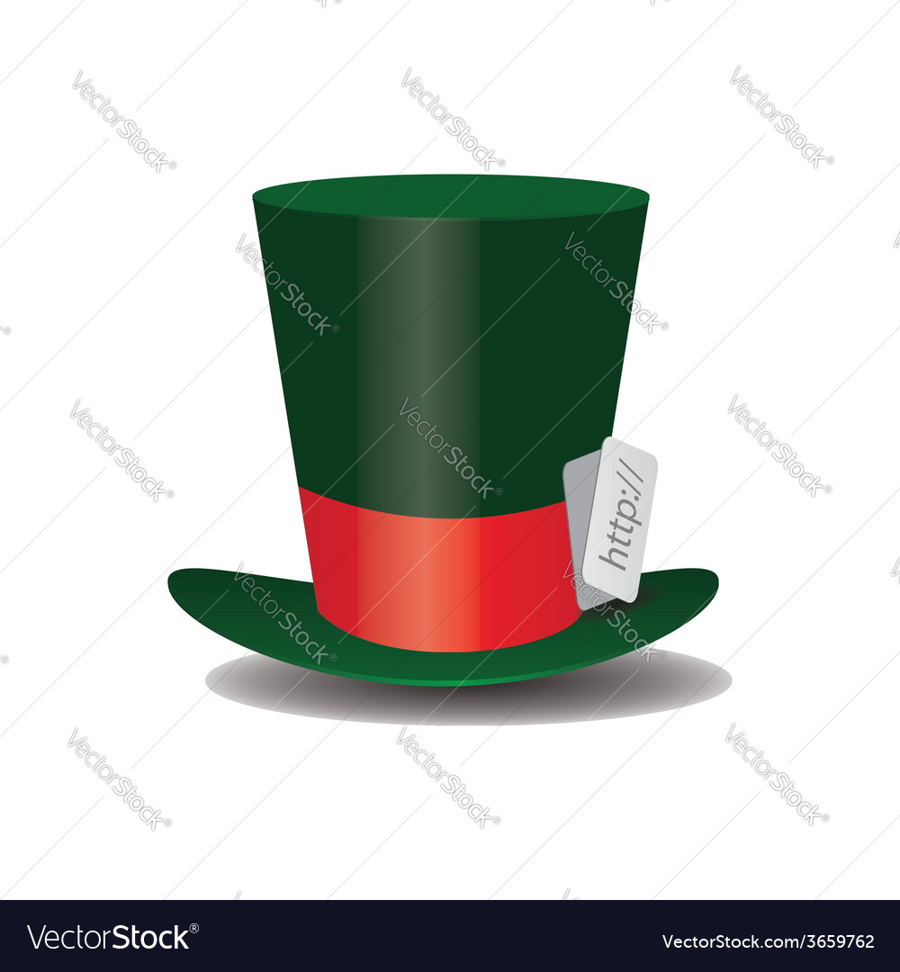 Internet green hat mad hatter vector | Price: 1 Credit (USD $1)