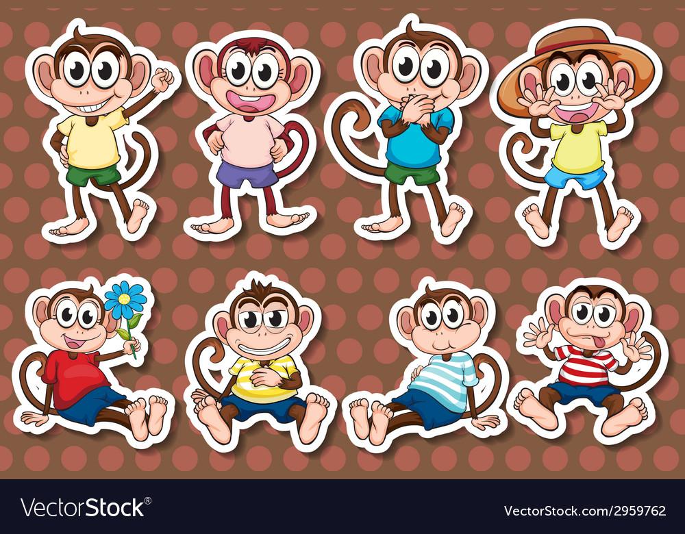 Monkeys vector | Price: 1 Credit (USD $1)