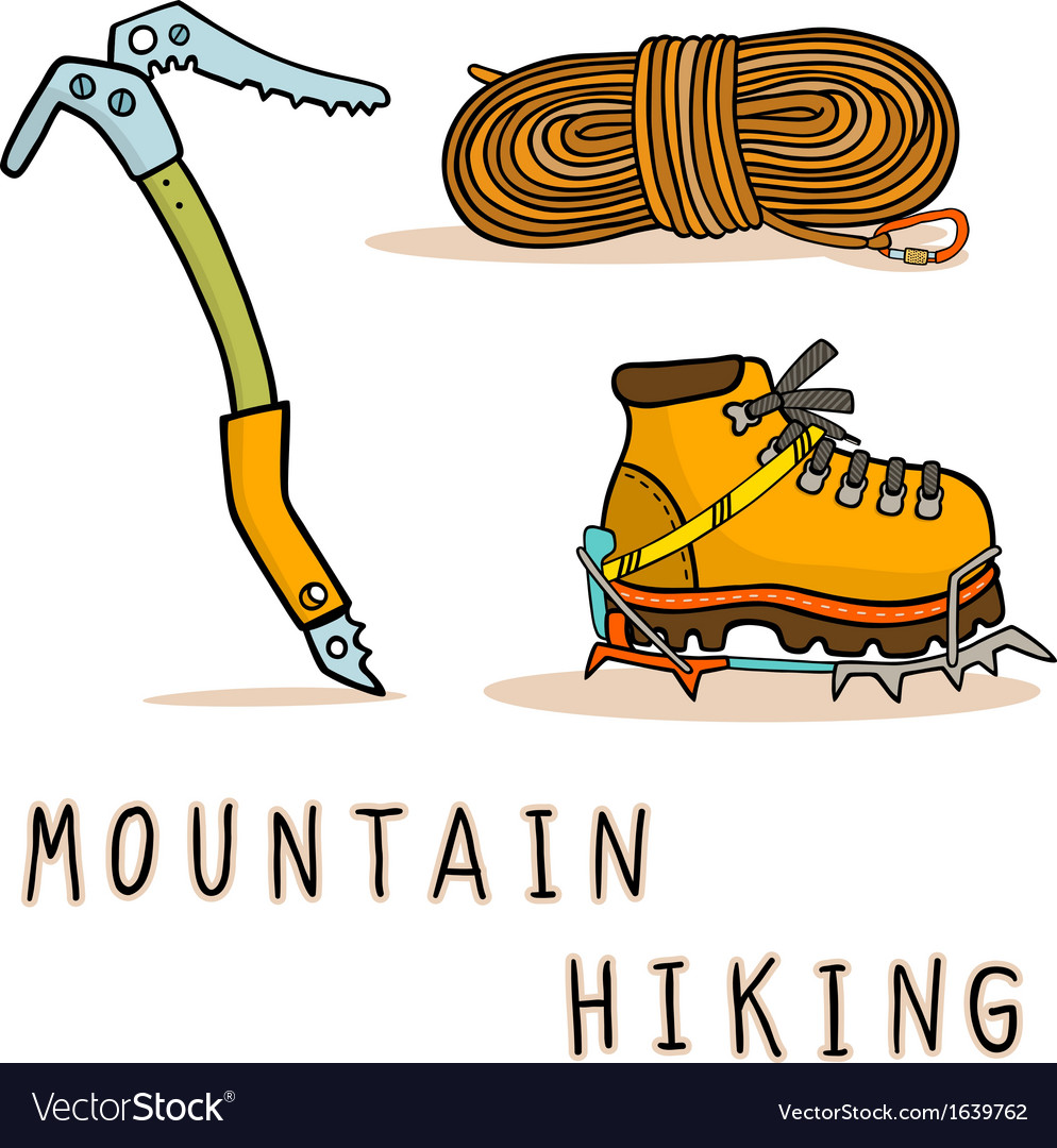 Mountain hiking vector | Price: 1 Credit (USD $1)