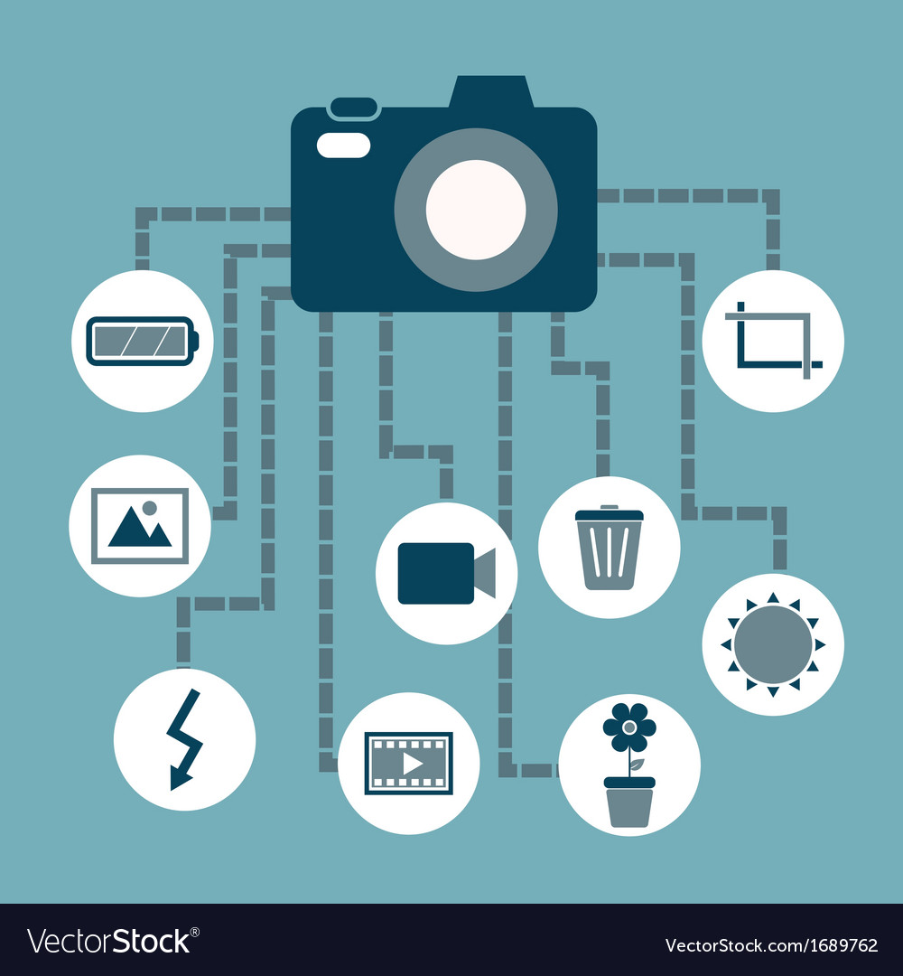 Photography concept idea in flat style vector | Price: 1 Credit (USD $1)