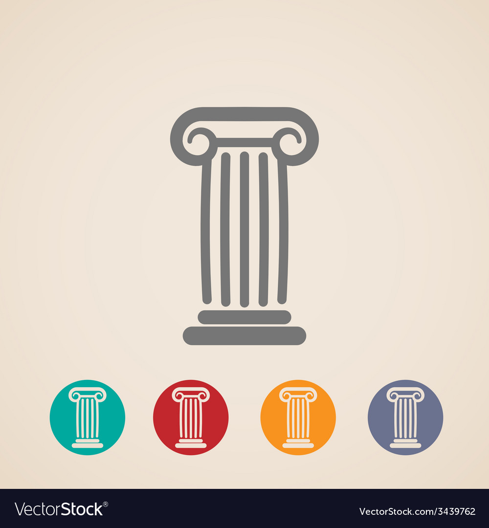 Set of ancient column icons vector | Price: 1 Credit (USD $1)