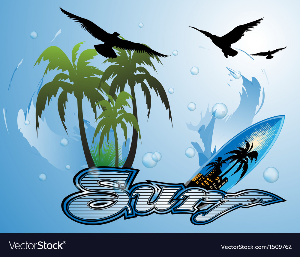 Surfboard vector | Price: 1 Credit (USD $1)