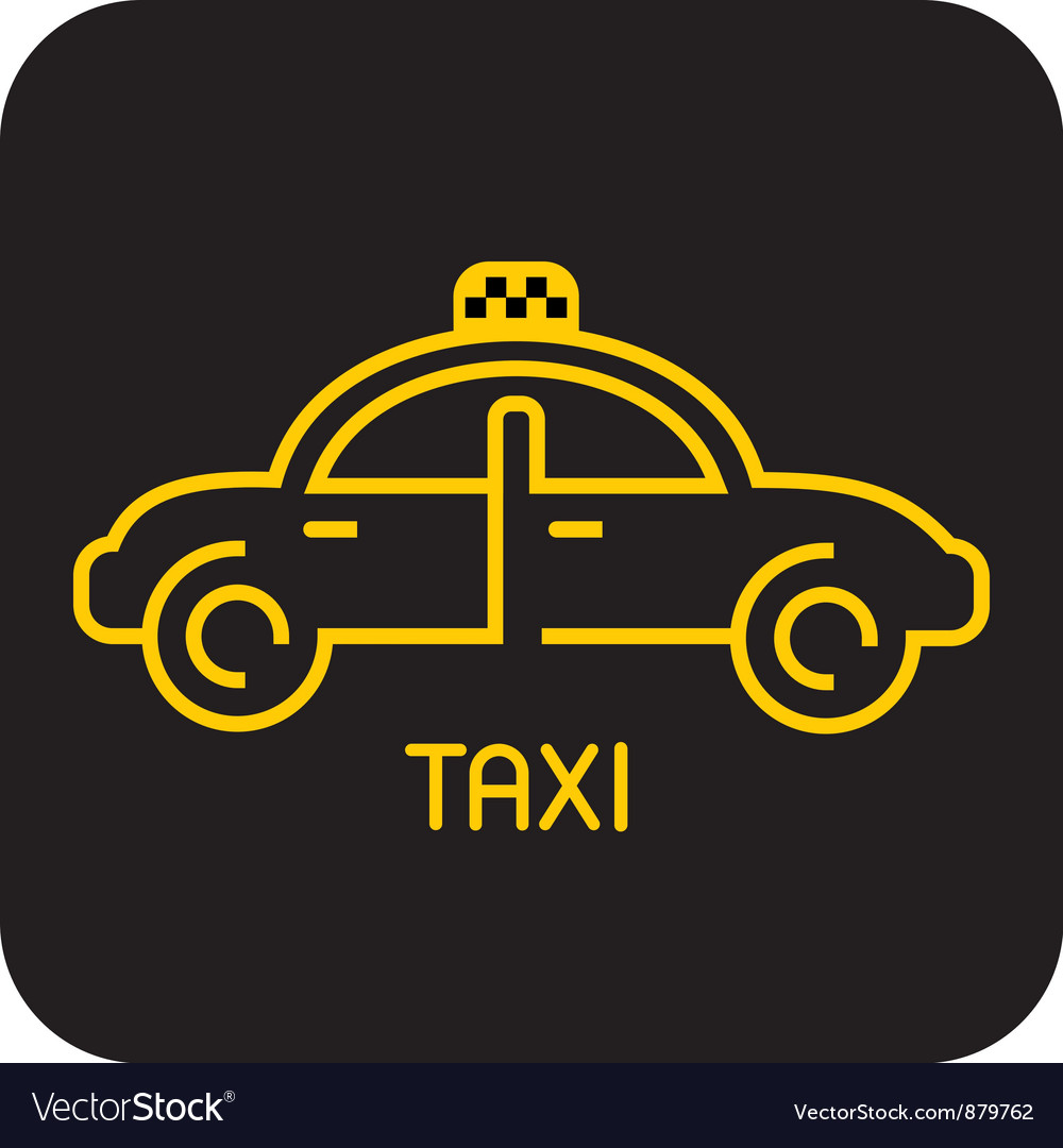 Taxi icon on black vector | Price: 1 Credit (USD $1)