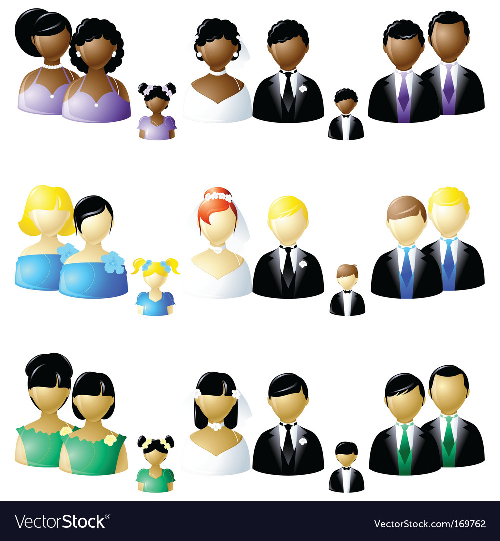 Wedding party icons vector   Price: 1 Credit (USD $1)
