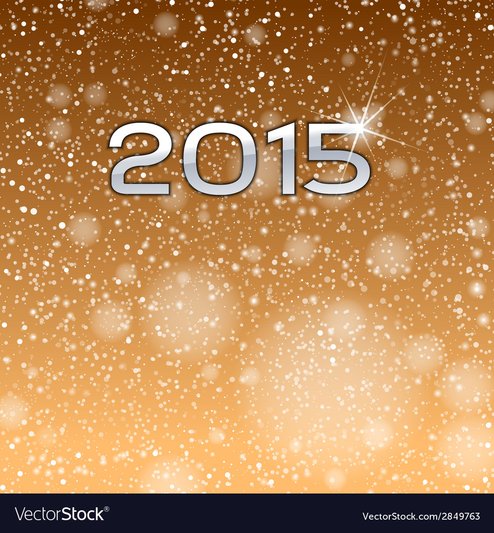 2015 falling snow gold vector | Price: 1 Credit (USD $1)