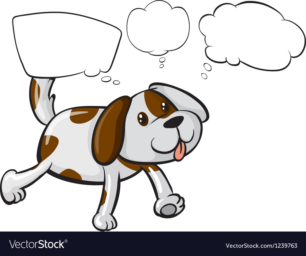 A puppy with empty thoughts vector | Price: 1 Credit (USD $1)