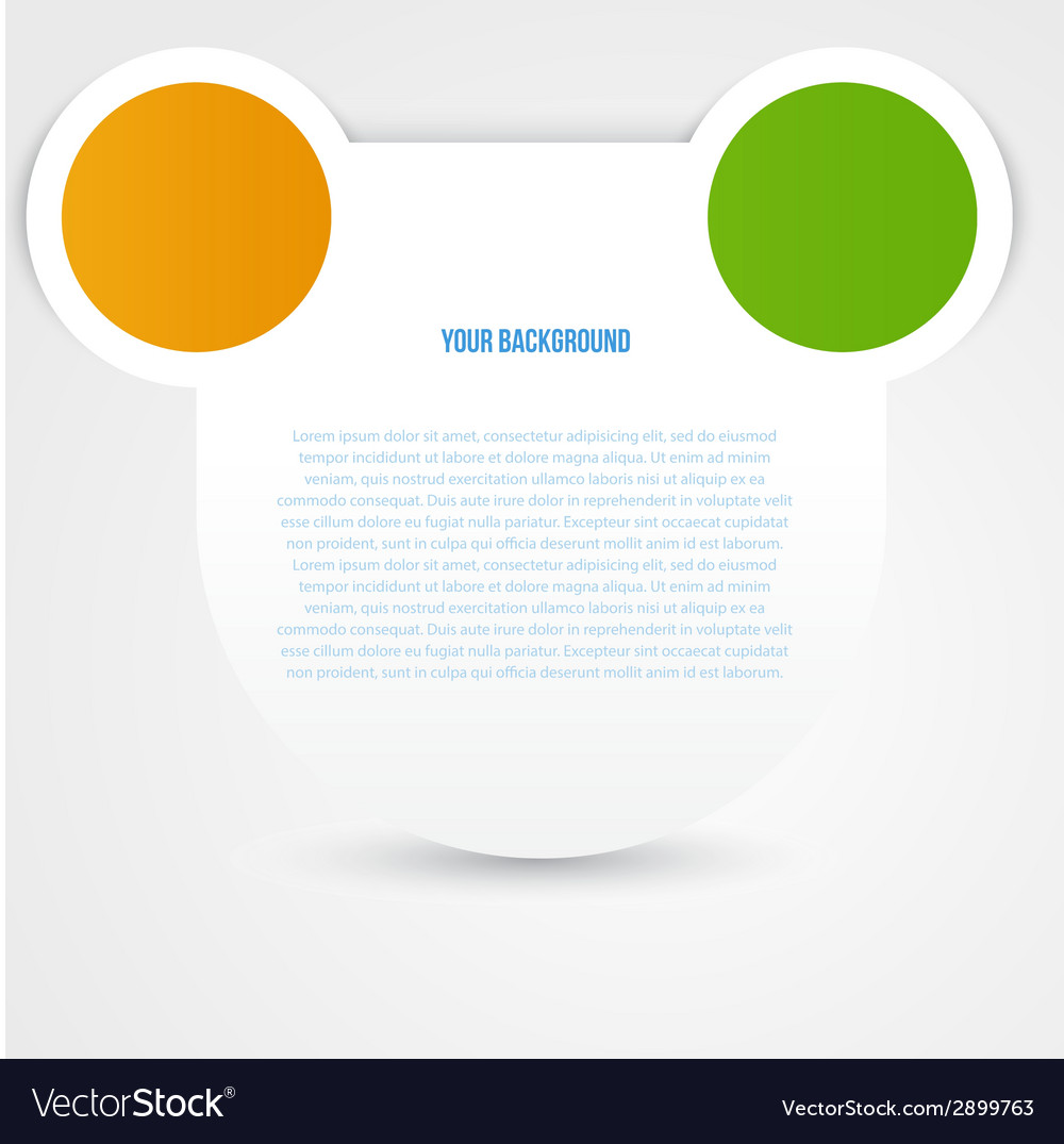 Abstract circles template object design vector | Price: 1 Credit (USD $1)